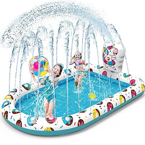VATOS Splash Pad Sprinkler Planschbecken Play Matte 67'*45' Wasser Spielmatte Wasserspielzeug für Kinder...