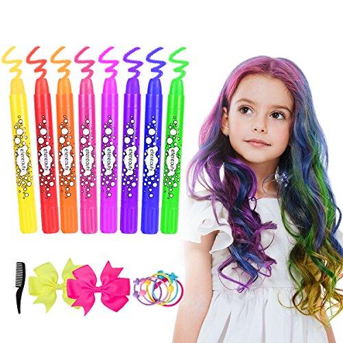 Auswaschbare Haarkreide (8 Farben)