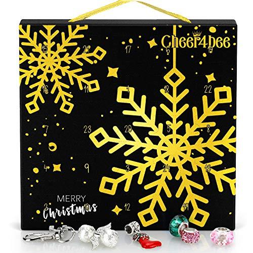 Cheer4bee Schmuck Adventskalender 2020, 24 Überraschungen Armband Kit, Halsketten, Schlüsselanhänger,...