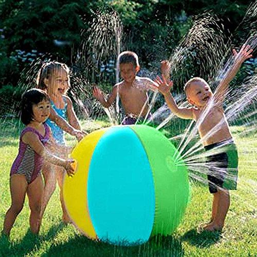 AOLVO Spritz- und Sprayball, 76,2 cm Wasserspritzbälle, Strandball-Sprinkler, Spielzeug, aufblasbar,...