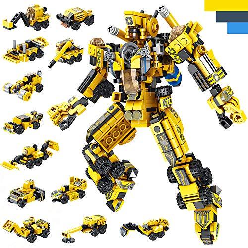 LUKAT Roboter Bausteine Spielzeug für Jungen 6 7 8 9 10 Jahre Gebäude Konstruktionsspielzeug 25-in-1...