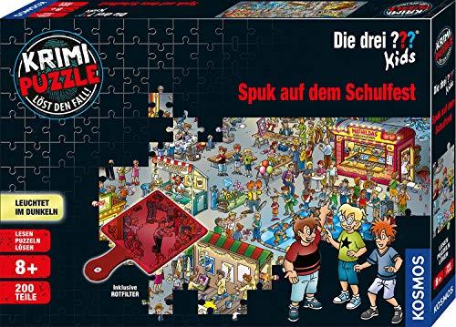 Kosmos 697983 - Krimi Puzzle: Die drei ??? Kids - Spuk auf dem Schulfest, Leuchtet im Dunkeln, 200 Teile,...