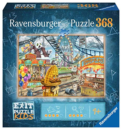 Ravensburger EXIT Puzzle Kids 12926 - Im Freizeitpark - 368 Teile für Kinder ab 9 Jahren