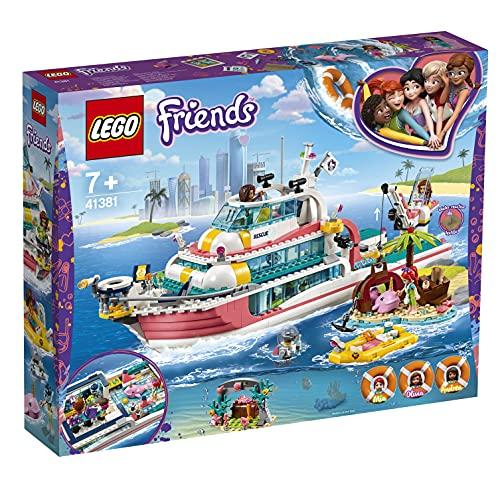 Lego 41381 Friends Boot für Rettungsaktionen und Legoinsel, Spielzeug für Kinder mit den Minipuppen...