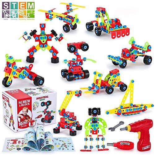 TINOTEEN Bausteine Spielzeug für 5, 6, 7, 8, 9 Jahre und älter Kinder, Gebäude Lernen Pädagogische...
