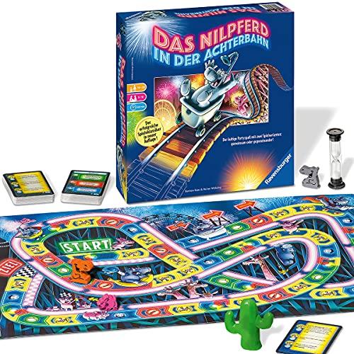 Ravensburger 26772 - Nilpferd in der Achterbahn - Gesellschaftsspiel für die ganze Familie, Spiel für...