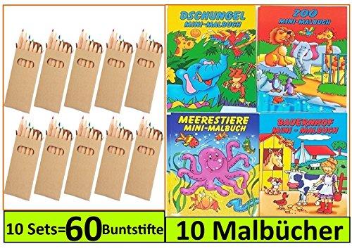 Libetui 10 Sets Buntstifte Malsets für Kinder Gastgeschenke Mitgebsel für Kinderparty Geburtstag, Mit...