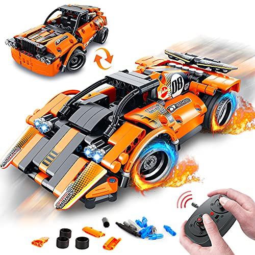VATOS STEM Bausteine Auto Spielzeug ab 6 7 8 9 10 Jahren für Jungen & Mädchen 335PCS Teile 2-in-1...