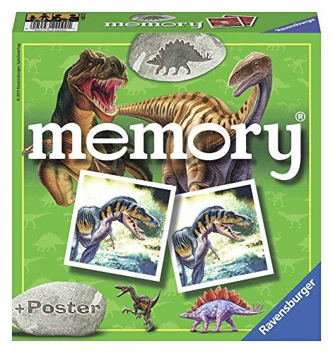 Ravensburger 22099 - Dino Memory, Spieleklassiker für alle Dinosaurier Fans ab 4 Jahren, Merkspiel für...