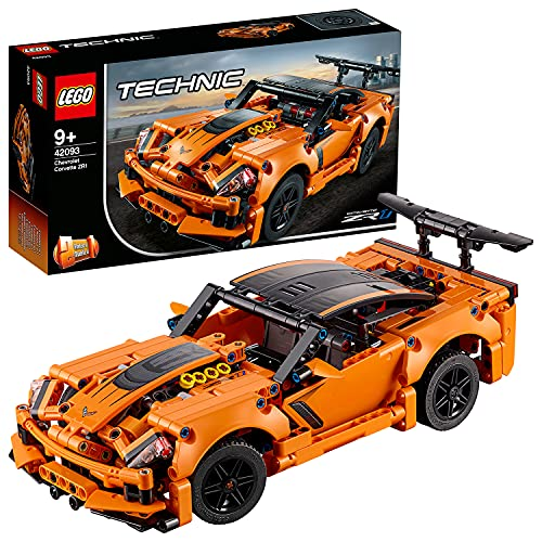 LEGO 42093 Technic Chevrolet Corvette ZR1 Rennwagen oder Hot Road, 2-in-1 Modellauto,...