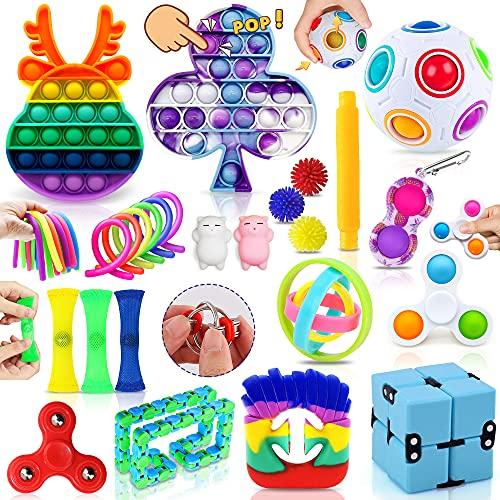 MarckersHome Fidget Toy Set, Fidget Pack für Kinder Erwachsene, lindert Stress und Angst Zappelspielzeug...