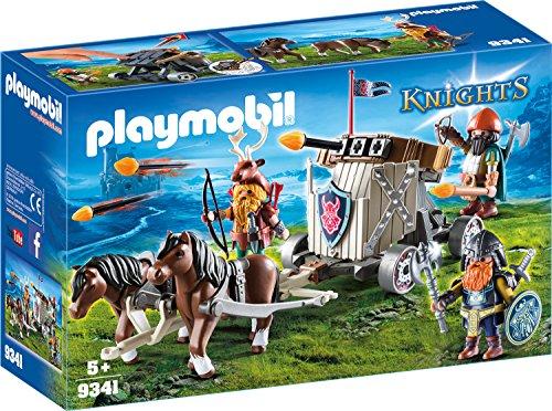 PLAYMOBIL Knights 9343 Ponygespann mit Zwergenballiste, Ab 5 Jahren