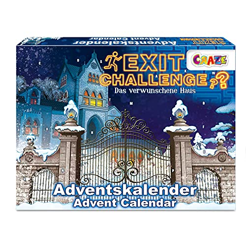 CRAZE Adventskalender EXIT CHALLENGE Escape Game Weihnachtskalender 2021 für Mädchen Jungen Spielzeug...