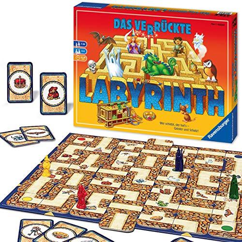 Ravensburger Familienspiel Das verrückte Labyrinth, Kinder- und Gesellschaftsspiel, für Kinder und...