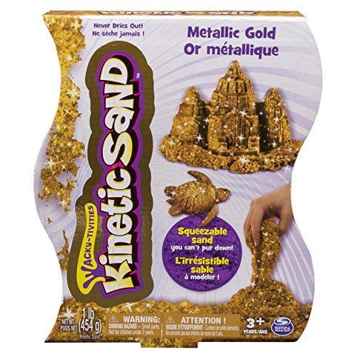 Kinetic Sand - Supersand - Metallisch Goldfarben 454g [UK Import]