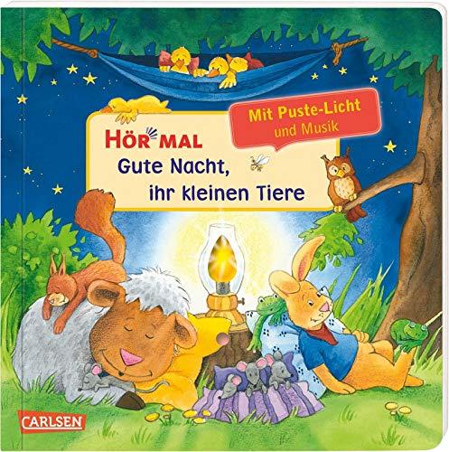 Hör mal (Soundbuch): Mach mit - Pust aus: Gute Nacht, ihr kleinen Tiere: Zum Hören, Auspusten und...