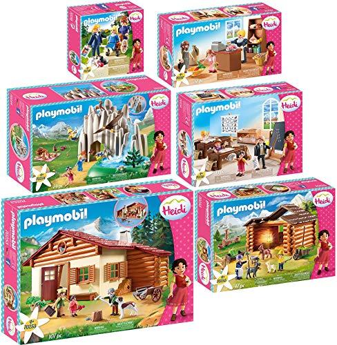 geobra Brandstätter PLAYMOBIL® Heidi 6er Set 70253 70254 70255 70256 70257 70258 Almhütte +...