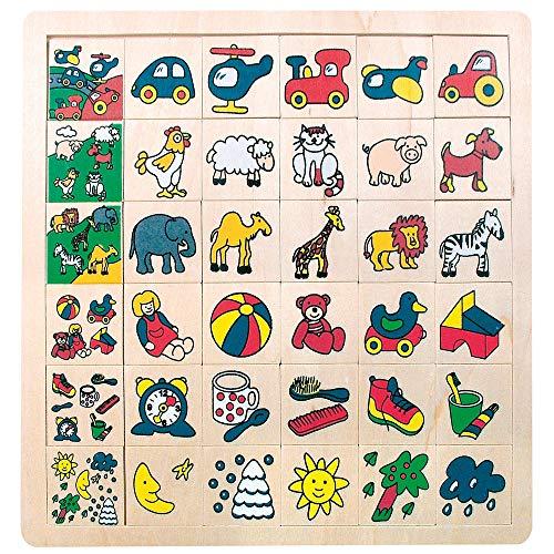 Bino world of toys 84079 Bino Legepuzzle was gehört wohin, Spielzeug für Kinder ab 3 Jahre...
