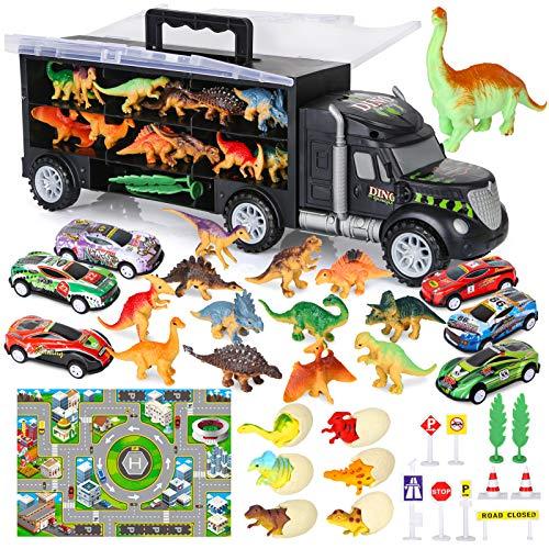 Vanplay Autotransporter Dinosaurier LKW Spielzeug einschließen Kleine Dinosaurier Figuren Dino Ei Mini...