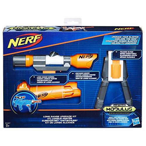 Hasbro Nerf B1537EU6 N-Strike Modulus Zubehör-Set 'Weitschuss', Spielzeugblaster-Zubehör