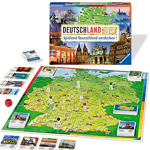 Ravensburger 26492 - Deutschlandreise - Familienklassiker ab 8 Jahren - Gesellschaftspiel, Reise durch...