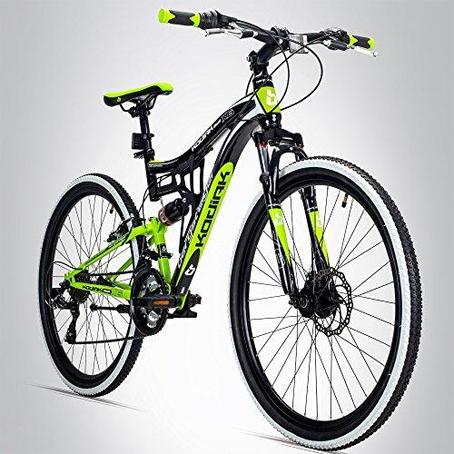 Bergsteiger Kodiak 26 Zoll Mountainbike, geeignet ab 150 cm, Scheibenbremse, Shimano 21 Gang-Schaltung,...