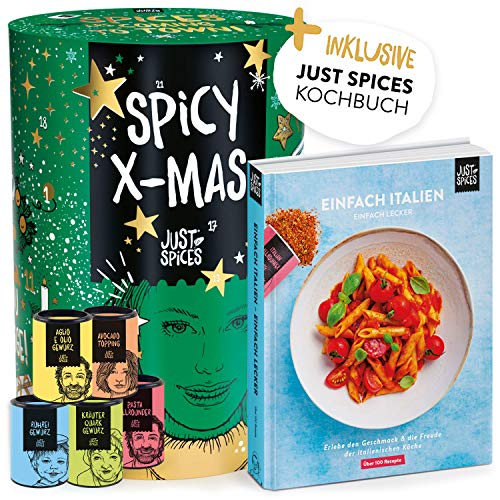 Just Spices Gewürz Adventskalender 2020 | Weihnachtskalender mit 24 Gewürzmischungen + italienisches...