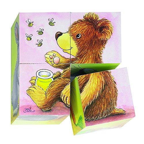 goki 57056 - Würfelpuzzle - Tierkinder