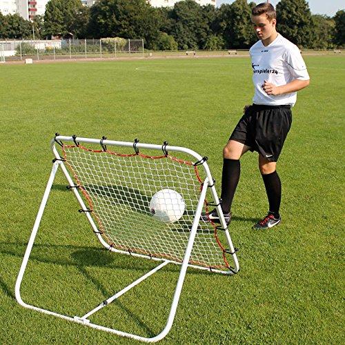 Superspieler24 Rebounder 100 cm x 100 cm, für Techniktraining, Fußballtraining