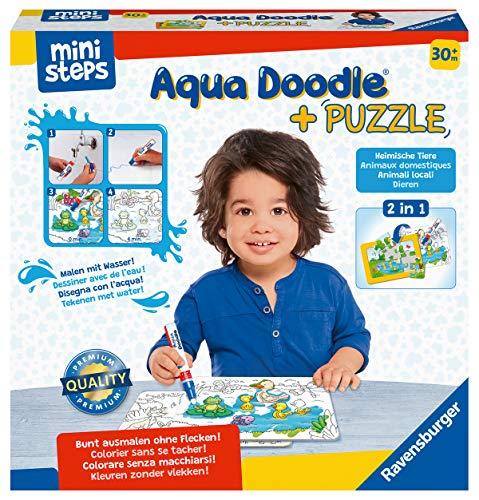 Ravensburger ministeps 4184 Aqua Doodle Puzzle: Heimische Tiere - Erstes Malen und Puzzlen für Kinder ab...