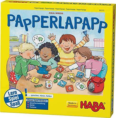Haba 302372 - Papperlapapp, Lernspielsammlung mit 6 Spielen für Kinder ab 3 Jahren, Lernspiele zur...