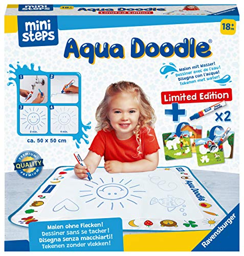 Ravensburger ministeps 4177 Aqua Doodle Limited Edition - Erstes Malen mit Wasser, Fleckenfreier Malspaß...
