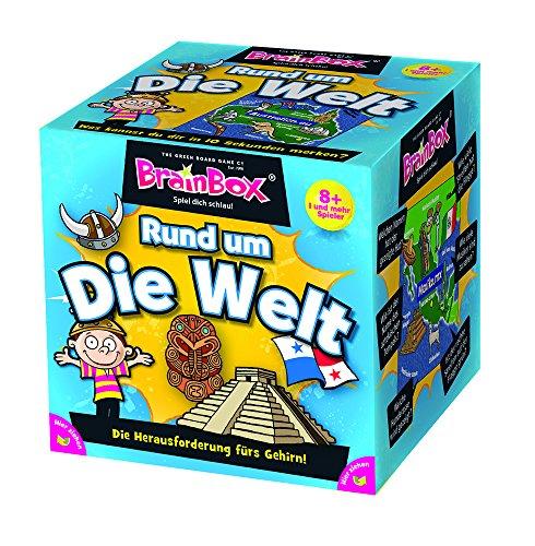 Brain Box 2094901 Rund um die Welt, Lernspiel, Quizspiel für Kinder ab 8 Jahren, weiß
