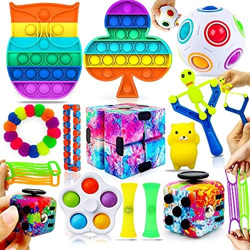 MarckersHome Fidget Toy Set Zappelspielzeug-Set sensorisches Zappelpaket für Autismus ADHS lindert...