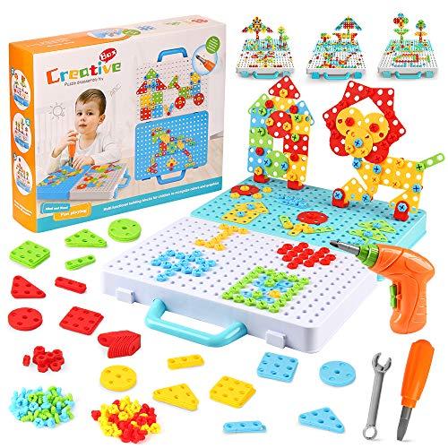 Mosaik Steckspiel, Lernspielzeug Steckmosaik, Mosaik Steckspiel für Kinder ab 3 Jahre, 3D Puzzle...