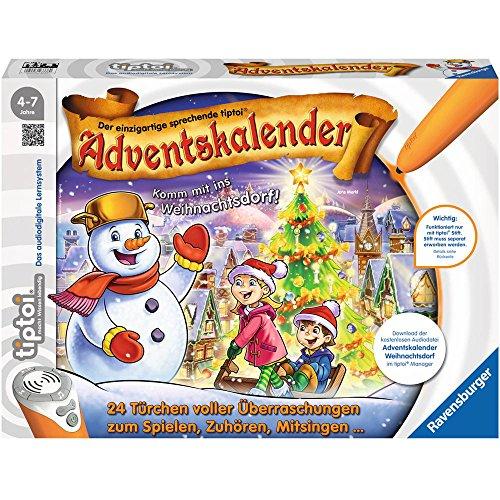 Ravensburger - tiptoi Adventskalender Weihnachtsdorf