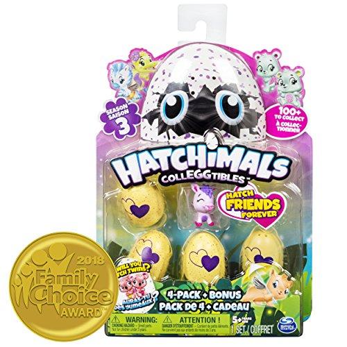 Hatchimals 6041341 - CollEGGtibles 4 Pack + Bonus S3