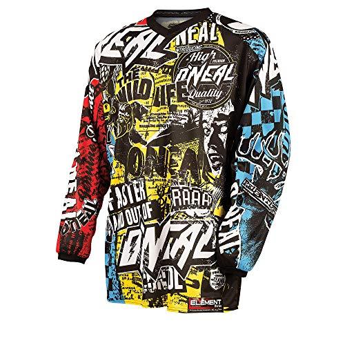 O'NEAL   Motocross-Shirt Langarm   Kinder   MX MTB Mountainbike   Leichte Materialien, Eingenähte...