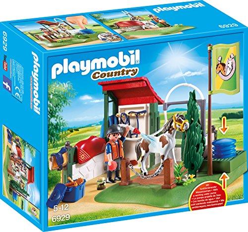 PLAYMOBIL Country 6929 Pferdewaschplatz mit funktionierender Wasserpumpe, Ab 5 Jahren
