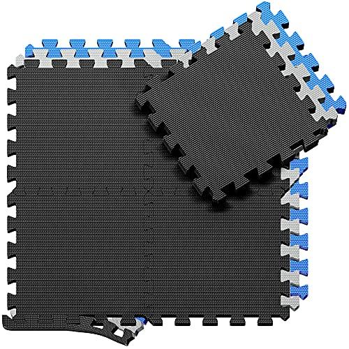 BeMaxx Schutzmatten Set Puzzlematte Bodenschutz Matte: Puzzle Bodenschutzmatten Unterlegmatte...