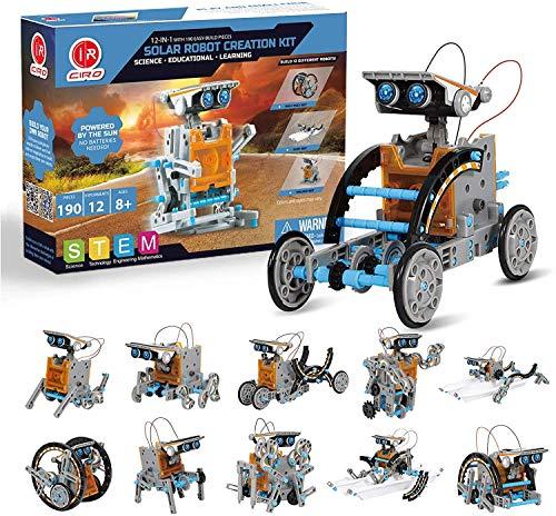 CIRO Toys Solar Roboter Kinder Konstruktionsspielzeug ab 8 Jahre, 12-IN-1 STEM Lernspielzeug...