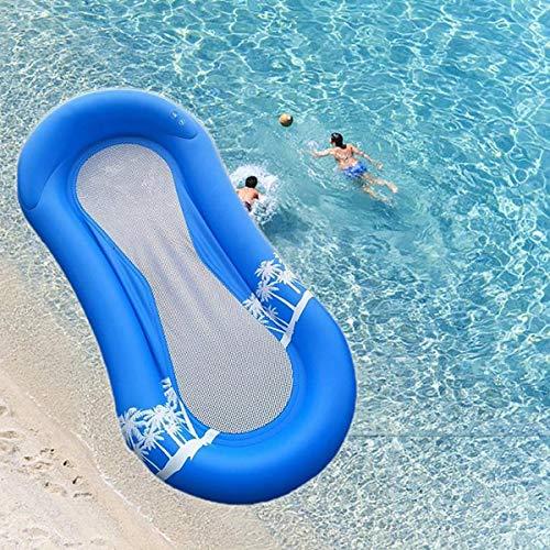 Fuming Aufblasbarer Wasserhängematte mit Netz , 170x80 cm Luftmatratze Wasser-Hängematte-Pool-Liege...
