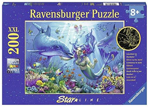 Ravensburger Kinderpuzzle 13678 - Leuchtendes Unterwasserparadies 200 Teile XXL - Puzzle für Kinder ab 8...