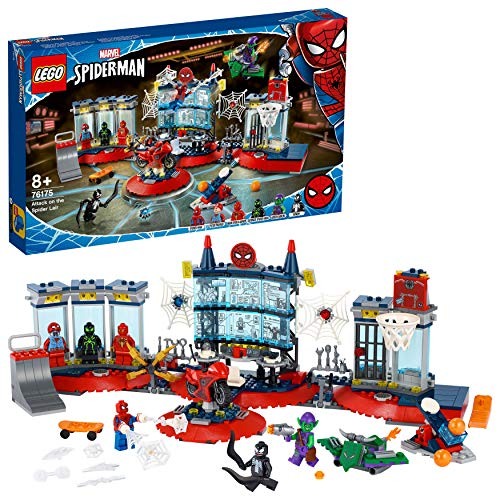 LEGO76175MarvelAngriffaufSpider-MansVersteckBausetmitGreenGoblinundVenomFiguren,...