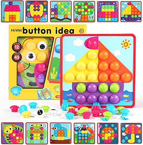 HUYIYI Mosaik Steckspiel für Kinder ab 2 Jahre,Lernspielzeug Geschenk für Mädchen Junge,Steckmosaik...
