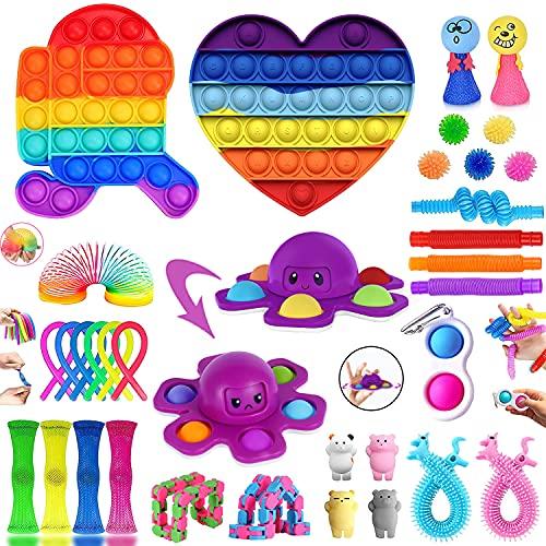 Fidget Toys Set, 34Stück Fidget Toy Set Box kann Stress und Angst Abbauen, Antistress Spielzeug kann die...