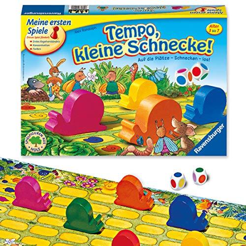 Ravensburger Kinderspiele 21420 - Tempo, kleine Schnecke! 21420 - Spiel für Kinder ab 3 Jahren