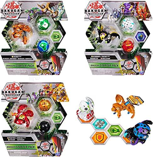 Bakugan Starter Pack mit 3 Armored Alliance Bakugan (1 Ultra & 2 Basic Balls) inkl. Fusions-Charakteren,...