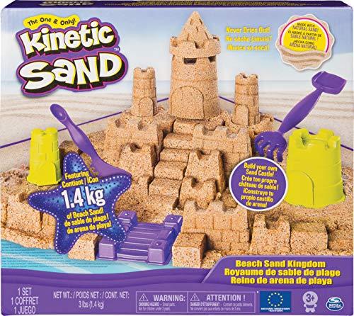 Kinetic Sand Sandburgen Set mit 1,4 kg Kinetic Sand für kreativen Indoor-Spaß
