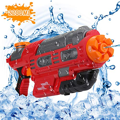 EKKONG Wasserpistole, 2200ML Wasserpistolen groß mit 10 Meter Reichweite für Kinder und Erwachsene...